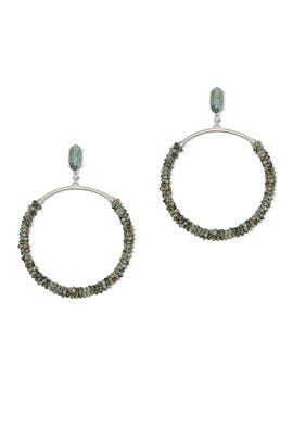 Russel Drop Hoop Earrings by Kendra Scott
