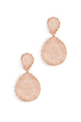 Blush Wood Kenzie Drop Earrings by Kendra Scott
