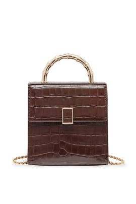 Dark Brown Tani Mini Crossbody by Loeffler Randall