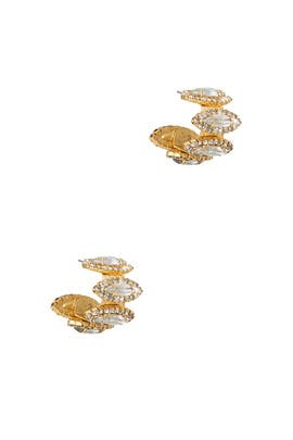 Crystal Paulette Earrings by Elizabeth Cole