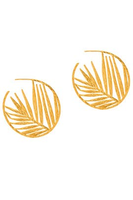 Palm Profile Hoops by Gorjana Accessories