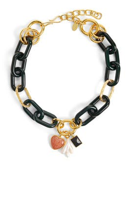 Forest Linked Necklace by Lizzie Fortunato