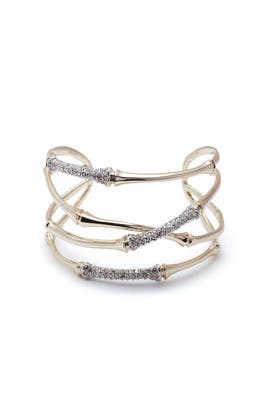 Orbiting Crystal Bamboo Cuff by Alexis Bittar