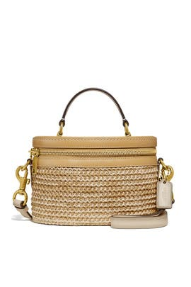 Straw Colorblock Trail Bag by Coach Handbags