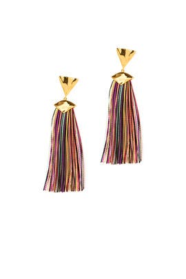 Havana Triangle Tassel Earrings by Gorjana Accessories