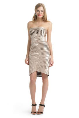 Champagne Hypnotizer Dress by BCBGMAXAZRIA