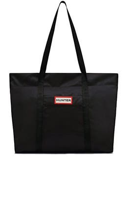 Black Nylon Tote by Hunter Handbags