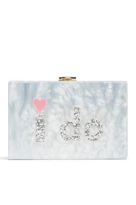 I Do Box Clutch by Milly Handbags