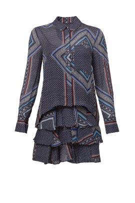 Midnight Paisley Shirtdress by Derek Lam 10 Crosby