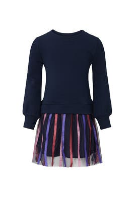 Kids Striped Tulle Mixy Dress by Crewcuts by J.Crew