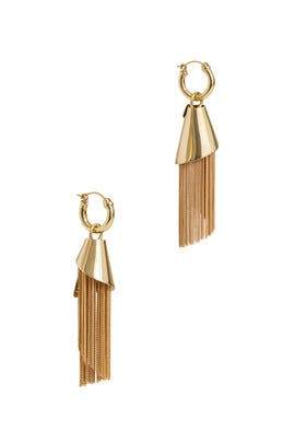 Amplifier Spiral Chain Earrings by ELLERY Accessories