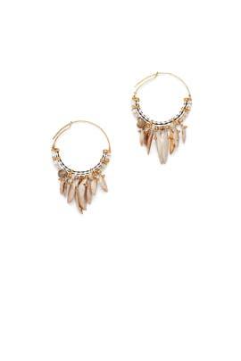 Multi Shell Hoop Earrings by Gas Bijoux
