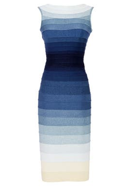 Blue Ardell Dress by Hervé Léger