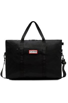 Black Nylon Weekender Bag by Hunter Handbags