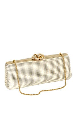 Pearl Crystal Flower Clutch by Whiting & Davis