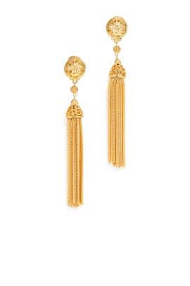 Sun Tassel Earrings by Ben-Amun