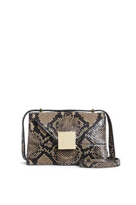 Olive Snake Mini Copenhagen Crossbody by DeMellier London
