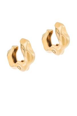 Feminine Waves Hoop Earrings by Joanna Laura Constantine