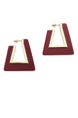 Triangle Resin Hoop Earrings by Rebecca Minkoff Accessories