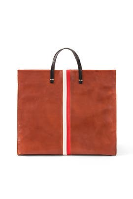 Cognac Simple Tote by Clare V.