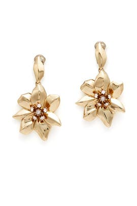 Bisque Flower Earrings by Oscar de la Renta