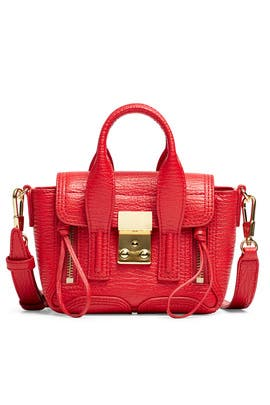 Red Pashli Nano Satchel by 3.1 Phillip Lim Accessories