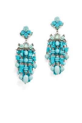 Turquoise Lionel Earrings by Dannijo
