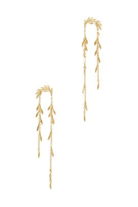 Gold Willow Earrings by Gorjana Accessories