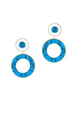 Turquoise Circle Drops by Joanna Laura Constantine