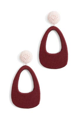 Scarlet Bubble Gum Delia Earrings by Sachin & Babi Accessories