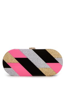 Geo Oval Clutch by Milly Handbags