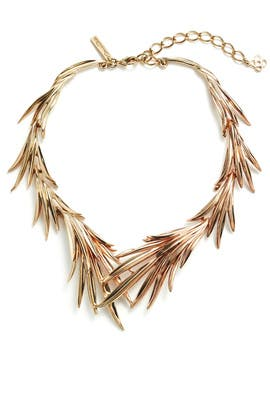 Gold Palm Leaf Necklace by Oscar de la Renta