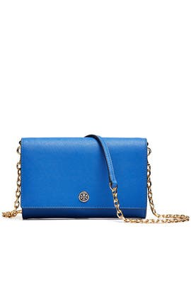 7cee8cb7851 Blue Robinson Chain Wallet by Tory Burch Accessories for  45