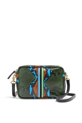 Evergreen Snake Midi Sac by Clare V.