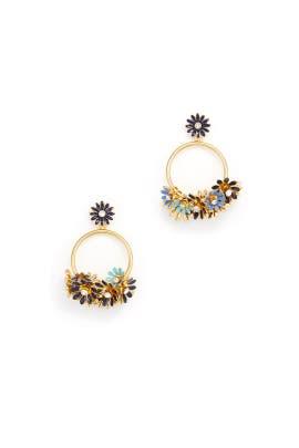Blue Daisy Hoop Earrings by kate spade new york accessories
