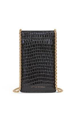 Black Augusta Chain Phone Crossbody by Loeffler Randall