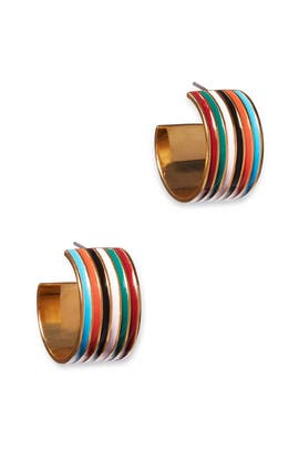 Rainbow Margot Hoops by Lizzie Fortunato