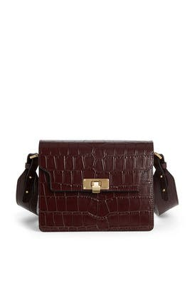 Wine Croc Vintage Brick Crossbody Bag by Marge Sherwood