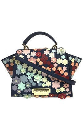 Floral Eartha Soft Top Handle Bag by ZAC Zac Posen Handbags