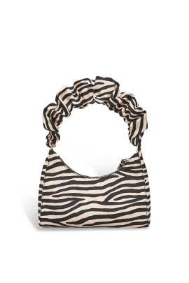 Zebra Aurora Scrunchie Strap Shoulder Bag by Loeffler Randall