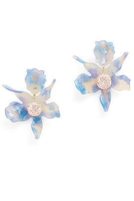 Cloudy Sky Crystal Lily Earrings by Lele Sadoughi