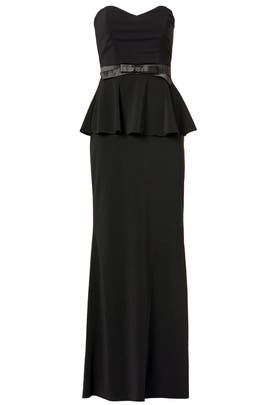 Rosalind Peplum Gown by Badgley Mischka