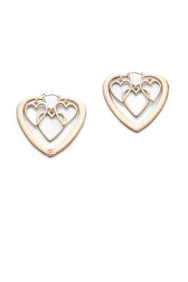 Yvette Heart Earrings by Dannijo