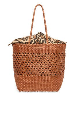 Woven Leather Tote by Loeffler Randall