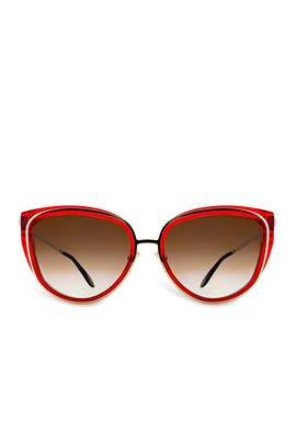 Red Enigmaty Sunglasses by Thierry Lasry