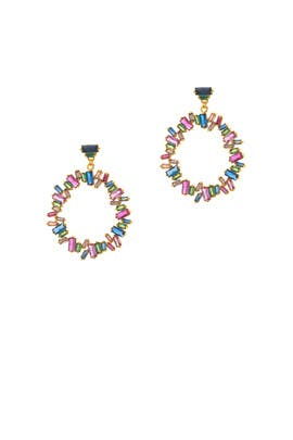 Jewel Amara Cluster Hoops by Gorjana Accessories