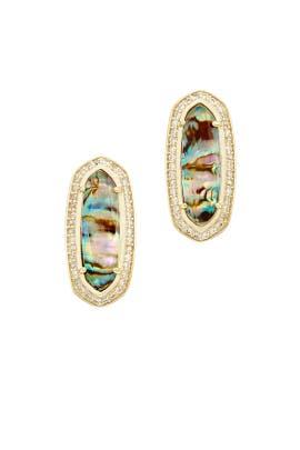 Abalone Aston Stud Earrings by Kendra Scott