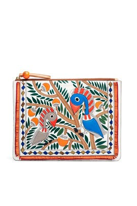 Printed Embossed Pouch by Tory Burch Accessories