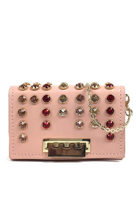 Rose Swarovski Earthette Crossbody by ZAC Zac Posen Handbags