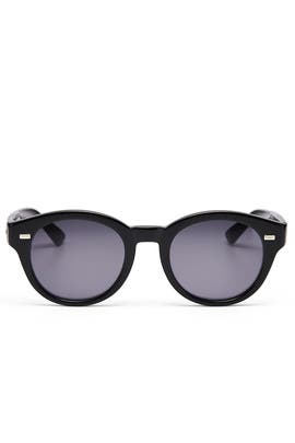 682b4a89695 Black Round Sunglasses by Gucci